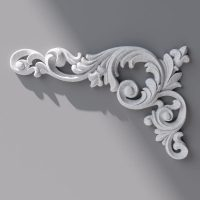 Ornament 234x150x15mm 3d model max obj fbx 1
